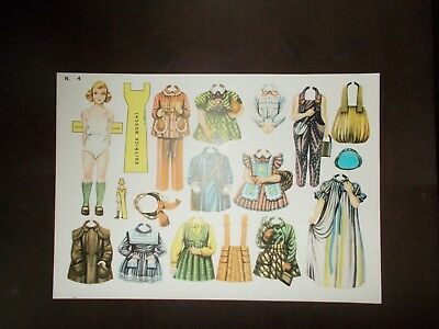 5 Vintage Paper Doll Sets Italy Editrice Boschi Uncut
