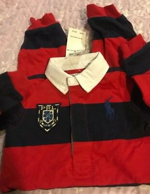 NWT Ralph lauren red stripe onsies /tracksuit for boys size 6 M