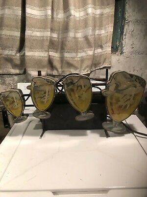 Vintage Hamm's Beer Flashing Goblets Sign-works-for parts or rehab-Local pick up