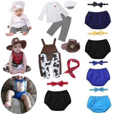 1ba04a149 Baby Boy Girl Carnival Fancy Dress Party Costume Cook Chef Cowboy Cosplay  Outfit