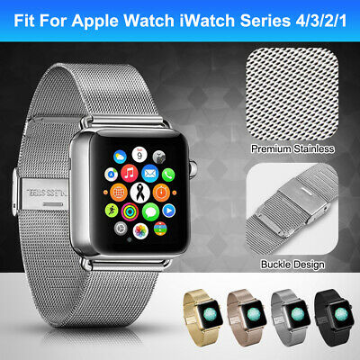 For Apple Watch Series 4/3/2 38/42MM Stainless Steel Bracelet iWatch Band Strap