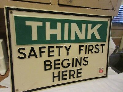 Phillips 66 Plastic Think Safety Sign
