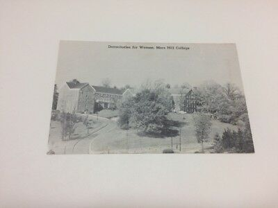 Mars Hill College Dormitories for Women Postcard NC Black & White