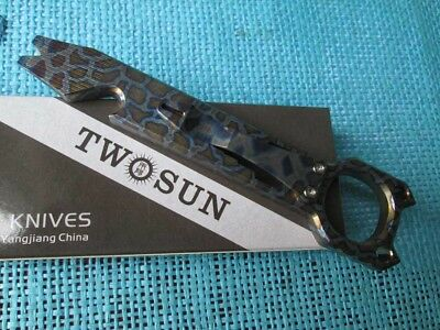 Twosun Titanium EDC Outdoor Prybar Bottle Opener With Pocket Clip TS143-Fire-Pry