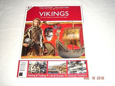 """THE HISTORY COLLECTION """"VIKINGS""""  2018  Magazine    NEW"""