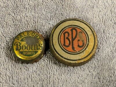 Lot of 2 Vintage Bottle Caps Booths Pale Dry. &.  BPS