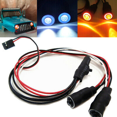 2LED 10/13mm Angel & Demon Eyes LED Headlight Light Bulb For 1/10 RC Car Crawler