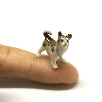 Husky Siberian Dog Animal Ceramic Miniature Collectible Dollhouse Figurine Gift