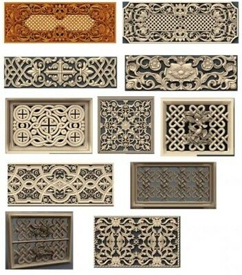 14 pieces/sets decorative 3D model STL relief CNC carving engraving artcam