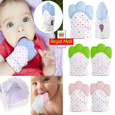 Baby Silicone Teething Mitten Mitt Teething Glove Infants Bite Training Teether