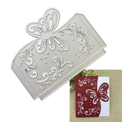 Greeting Card Metal Cutting Dies Stencil Scrapbooking Butterfly Envelope