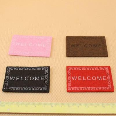 1:12 Dollhouse Miniature Carpet Dollhouse Room Accessories Decor Red Pink Black