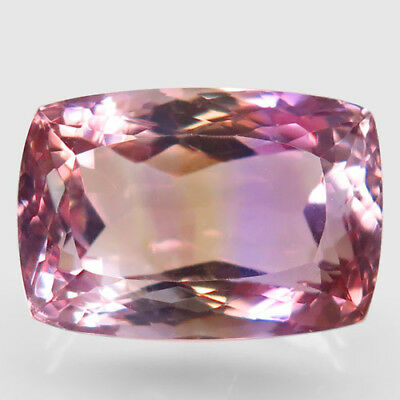 22.85ct.Glowing Gem! 100%Natural Bi Color Ametrine Unheated 19x13mm.AAA Nr!.