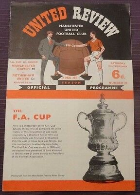 Manchester United v Rotherham United FA Cup Round 3, 12 February 1966