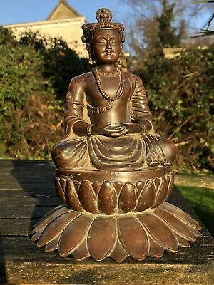 Superb 18Th Century Or Earlier Bronze / Copper Ghandara Buddha Swat Valley