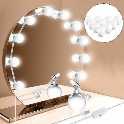 10LED Dimmable Vanity Mirror Lights Kit Bulbs for Makeup Hollywood Mirror Fine