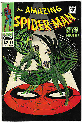 """Dated 1968. """"The AMAZING SPIDER-MAN"""" Marvel comic Vol.1. #63. VG."""