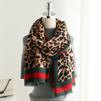 Leopard Print Women Scarf Ladies Winter Shawl Pashmina Stole Blanket Wrap Animal