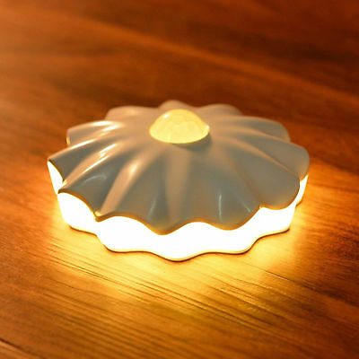 Shell Battery Operated 0.7W 6 LEDs Motion Sensor Security Night Light Wireless -