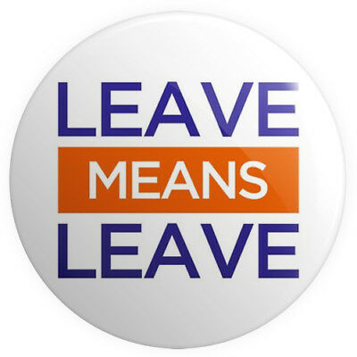 Leave Means Leave BUTTON PIN BADGE 25mm 1 INCH EU UK Brexit Referendum