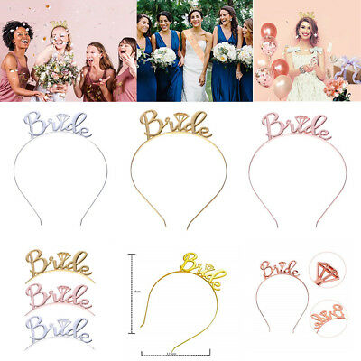 Bride To Be Tiara Crown Headband Bridal Hen Party Wedding Hair Band Accessories