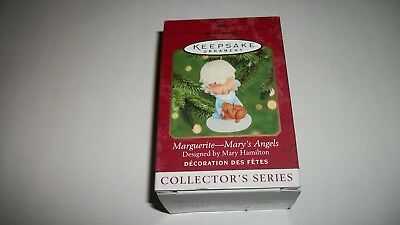 2000 Hallmark Ornament Mary's Angels Marguerite With Bunny 13th in the Series