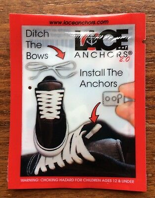 """Shoe LACE ANCHORS 2.0 (1 SET) """"DITCH THE BOWS, INSTALL THE ANCHORS!"""""""