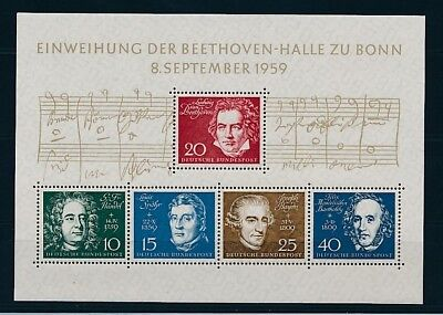 D241860 Music Beethoven S/S MNH Germany