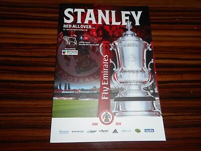 ACCRINGTON STANLEY  v  DERBY COUNTY  2018/19   F.A.CUP 4th JAN 26  MINT UNREAD