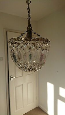 Antique, Glass, Crystal, chandelier , Light Shade