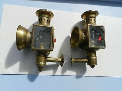 Set of Vintage Ship Light  Wall Mounted Blue Red  As Found