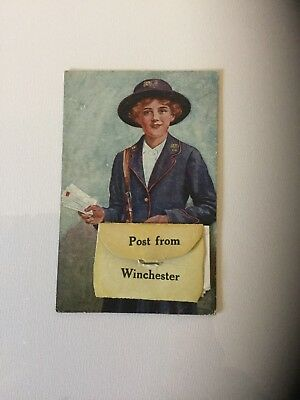NOVELTY POSTCARD Celesque Series 307 with pull out photos of Winchester
