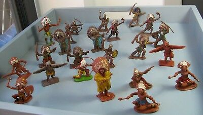 vintage mixed lot American Apache Indian plastic toy soldiers 1 britain