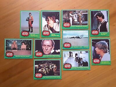 Vintage Topps Star Wars green border trading cards