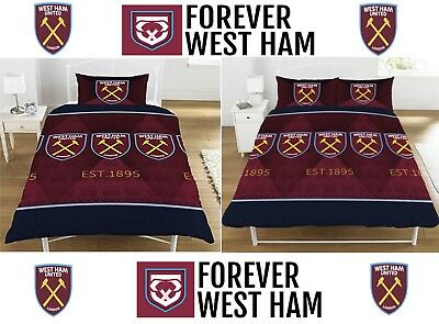 Polyester-Cotton Football Gift West Ham United FC Old vs New Crest Duvet Set