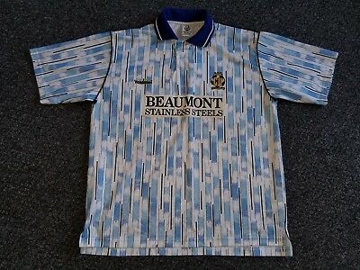 Cambridge United Away Football Shirt, 1993-1994, Beaumont Stainless Steels, XL
