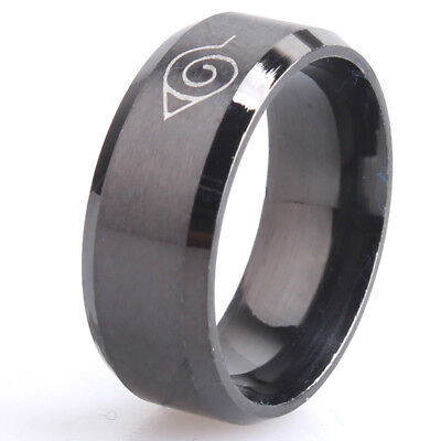 8mm Men Naruto Rings Stainless Steel Classic Women Ring Jewelry Hot