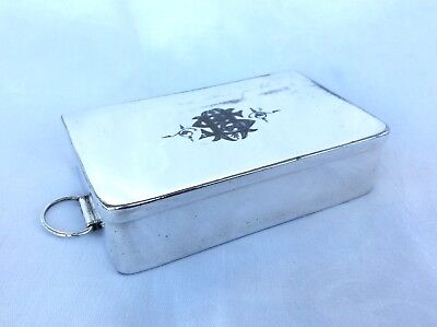 VICTORIAN SILVER PLATED HUNTING SANDWICH TIN - James Dixon & Sons.