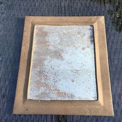 FRENCH  Vintage Art Deco Wall Mirror  BRASS FRAME LOTS OF PATINA