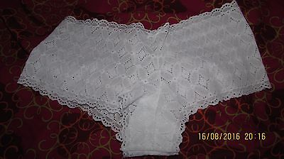 pretty lace boy shorts, white, tight fitting lycra, very sexy, very comfy