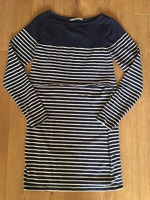Jojo Maman Bebe Breastfeeding Breton Stripe Dress Size Small