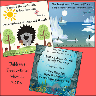 BEDTIME STORIES FOR KIDS TO HELP THEM SLEEP. 3 x CDs (9 STORIES) SAVE 20%