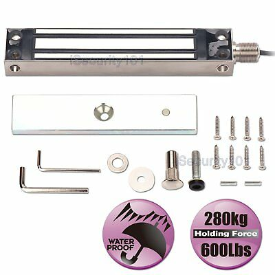 Waterproof Office Electric Magnetic Single Door Lock 280KG Holding Force