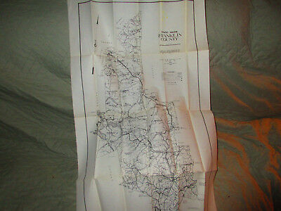 Vintage? Prentiss & Carlisle Large Original Map Franklin County Maine