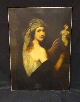Large 17th Century Dutch Italian Old Master Portrait Of A Lady Turban Antique