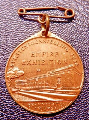South Africa Empire Exhibition1936 Bronze Gilt Medallion Johannesburg