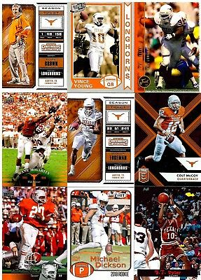 Texas Longhorns Huge College Alumni Lot (65+) No Duplicate Players
