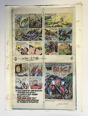 Original Comic Production Art SIGNED Jack Kirby Color Separations New Gods #5
