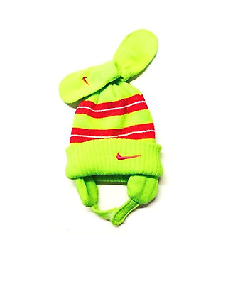 Nike Baby Girls Knit Hat and Mitten Set 12-24 Months Volt