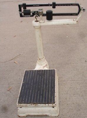 ~ Vintage ~ CONTINENTAL TARE BALANCE Butcher Type Floor SCALE